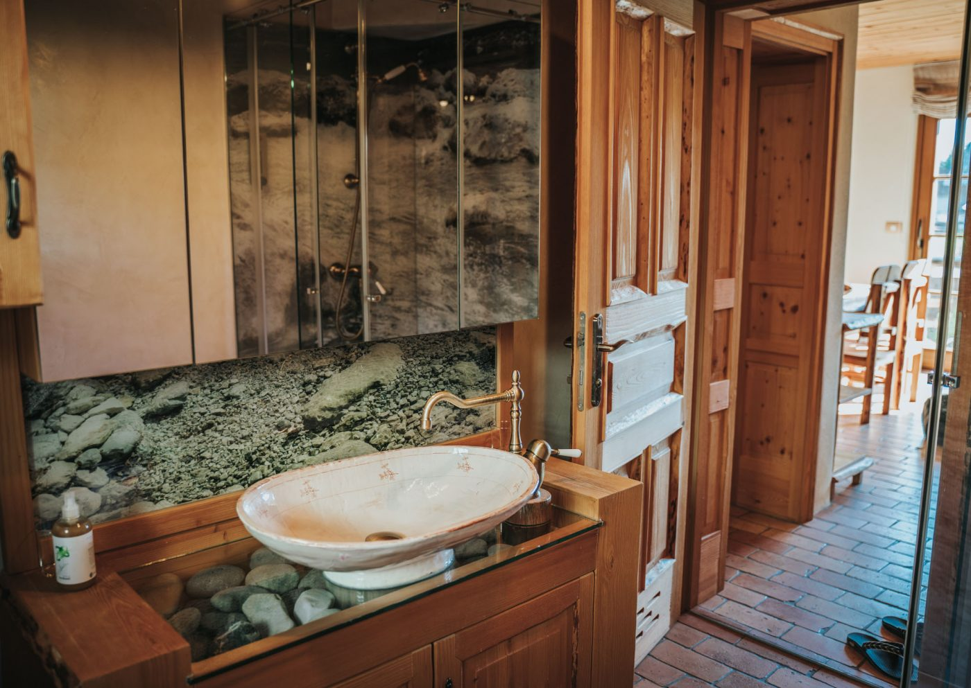 best eco hotels in Slovenia: Bathroom at the Trnuja Estate apartment