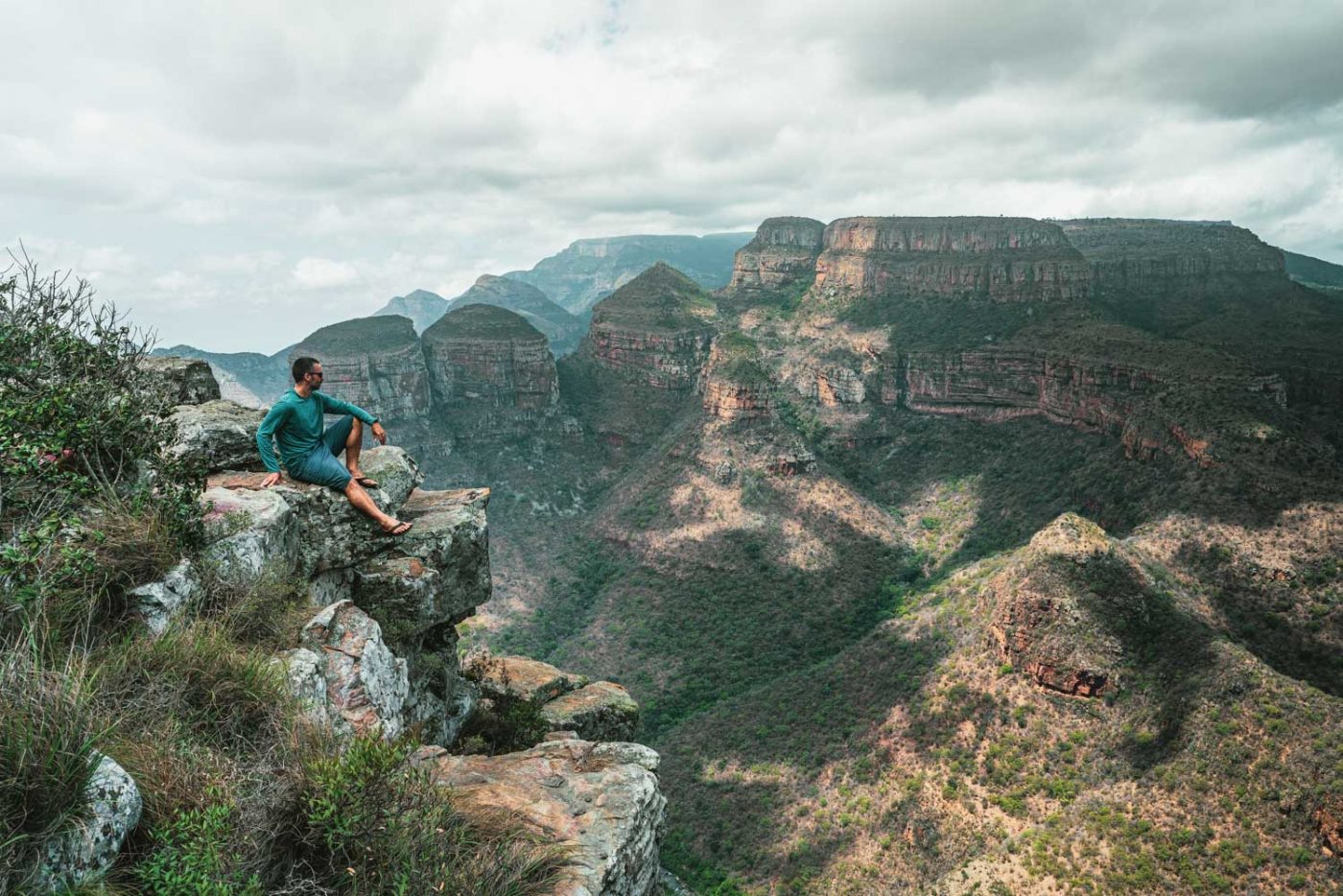 Overlooking the Three Sisters in Blyde River Canyon