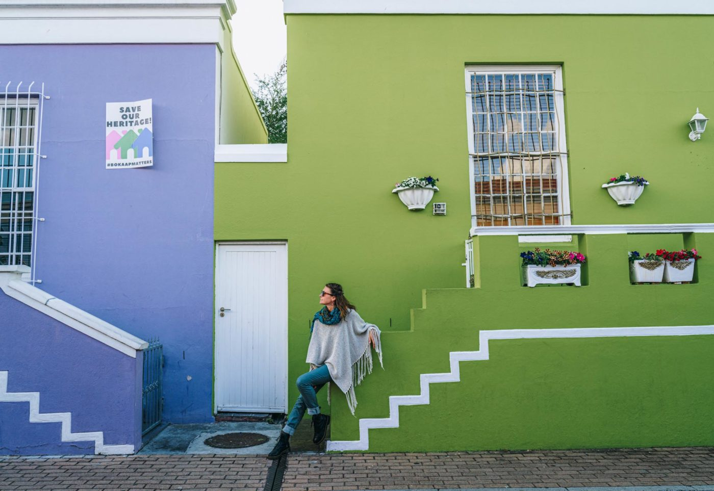 Colourful buildings in Bo-Kaap, Cape Town