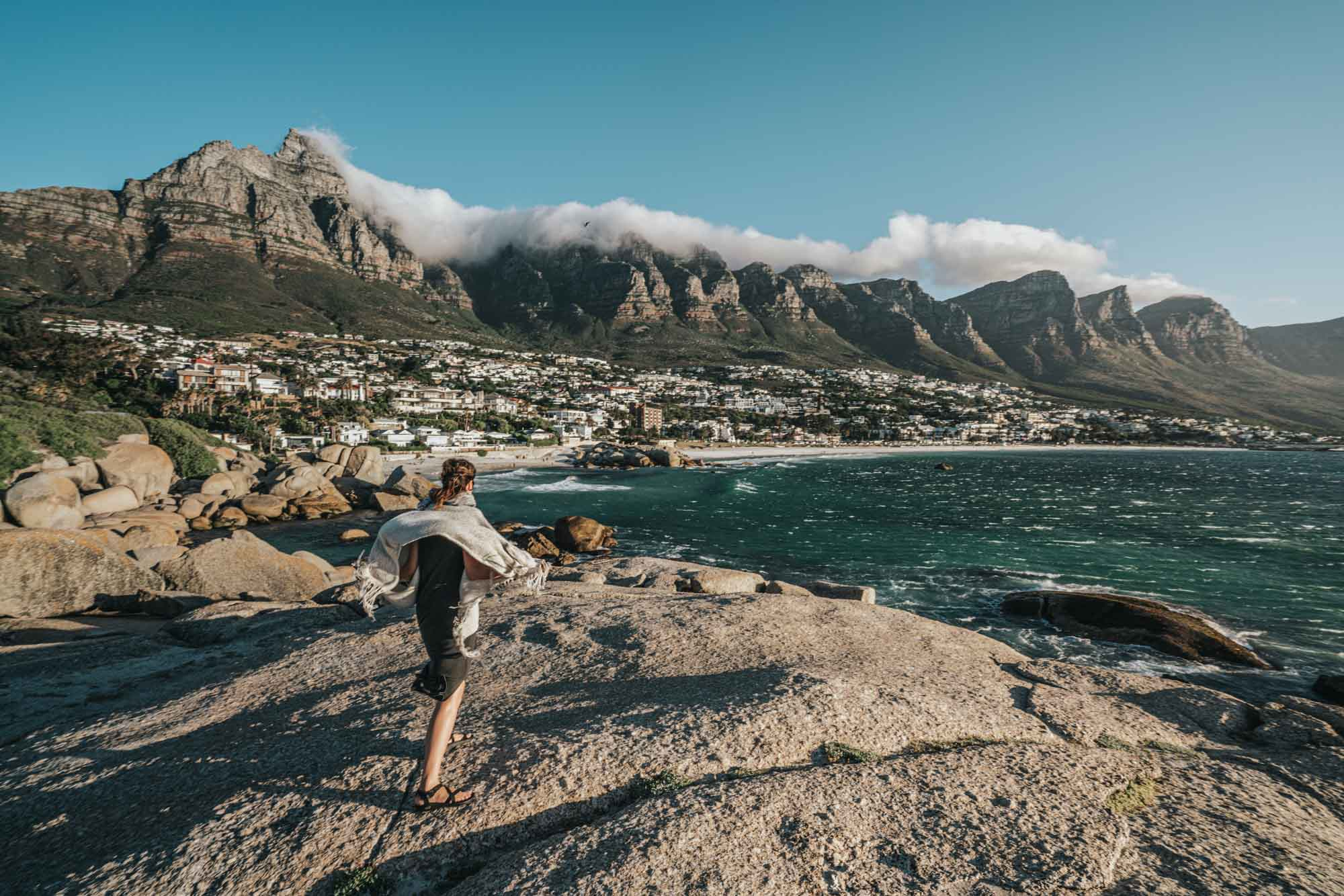 Battling the Easterly Wind in Camps Bay, Cape Town
