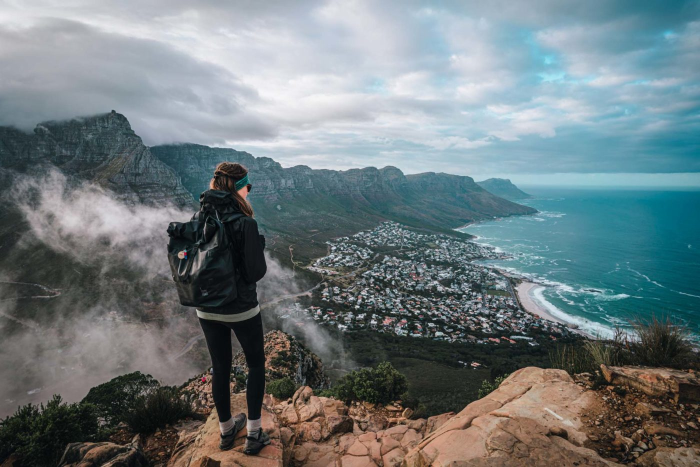 Views of Cape Town's beaches from Lion's Head, Cape Town