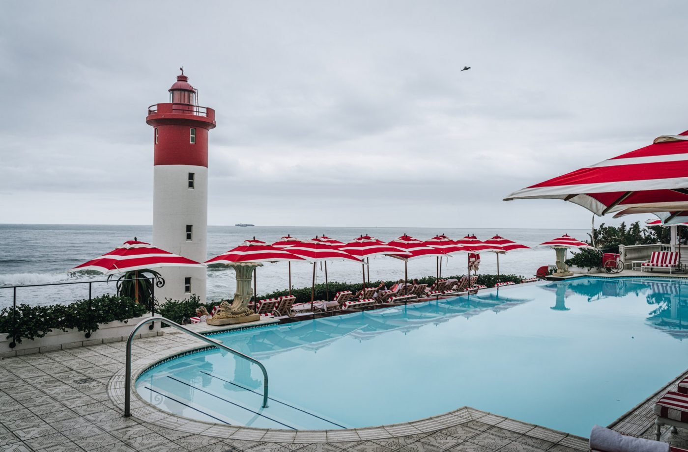 Pool with a view at Oyster Box Hotel, Umhlanga Beach, North Durban