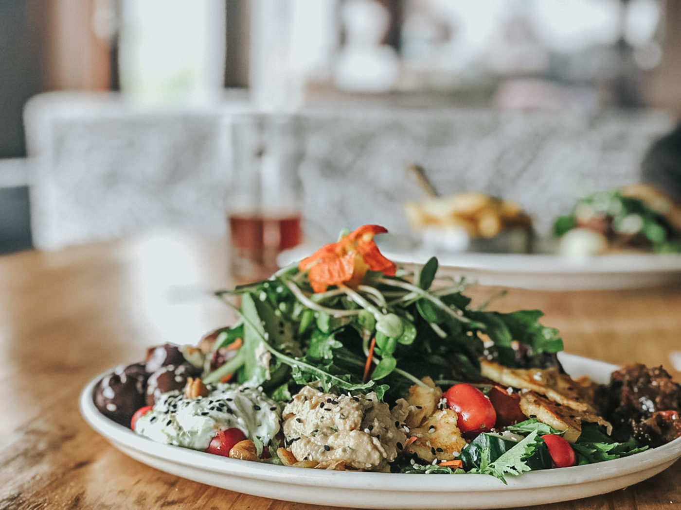 Vegan salad at Nina's Real Food in Jeffrey's Bay