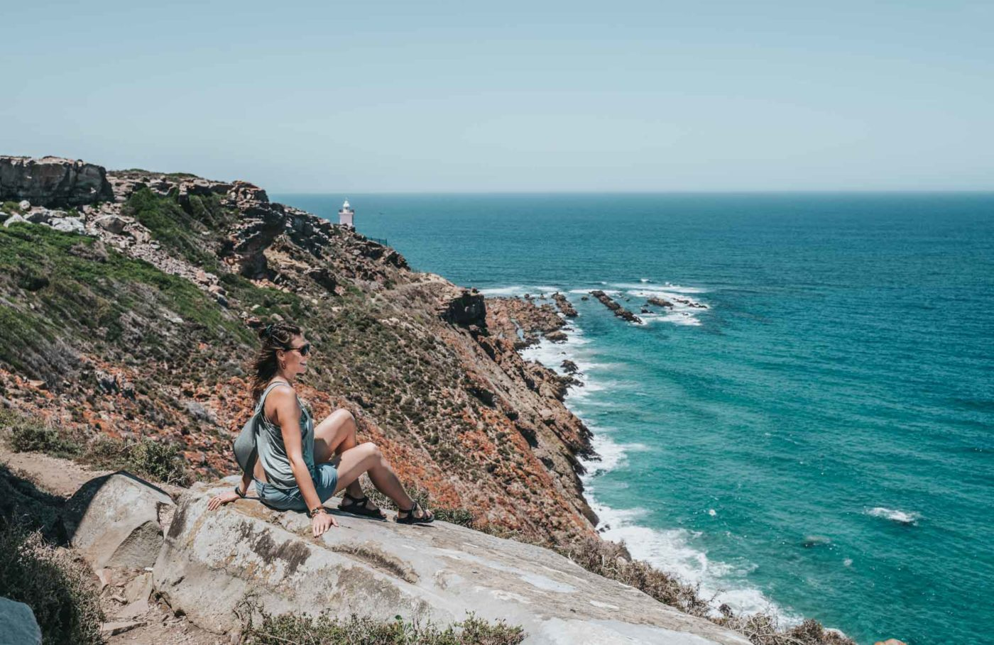 Overlooking the ocean from St Blaize Trail in Mossel Bay, Garden Route