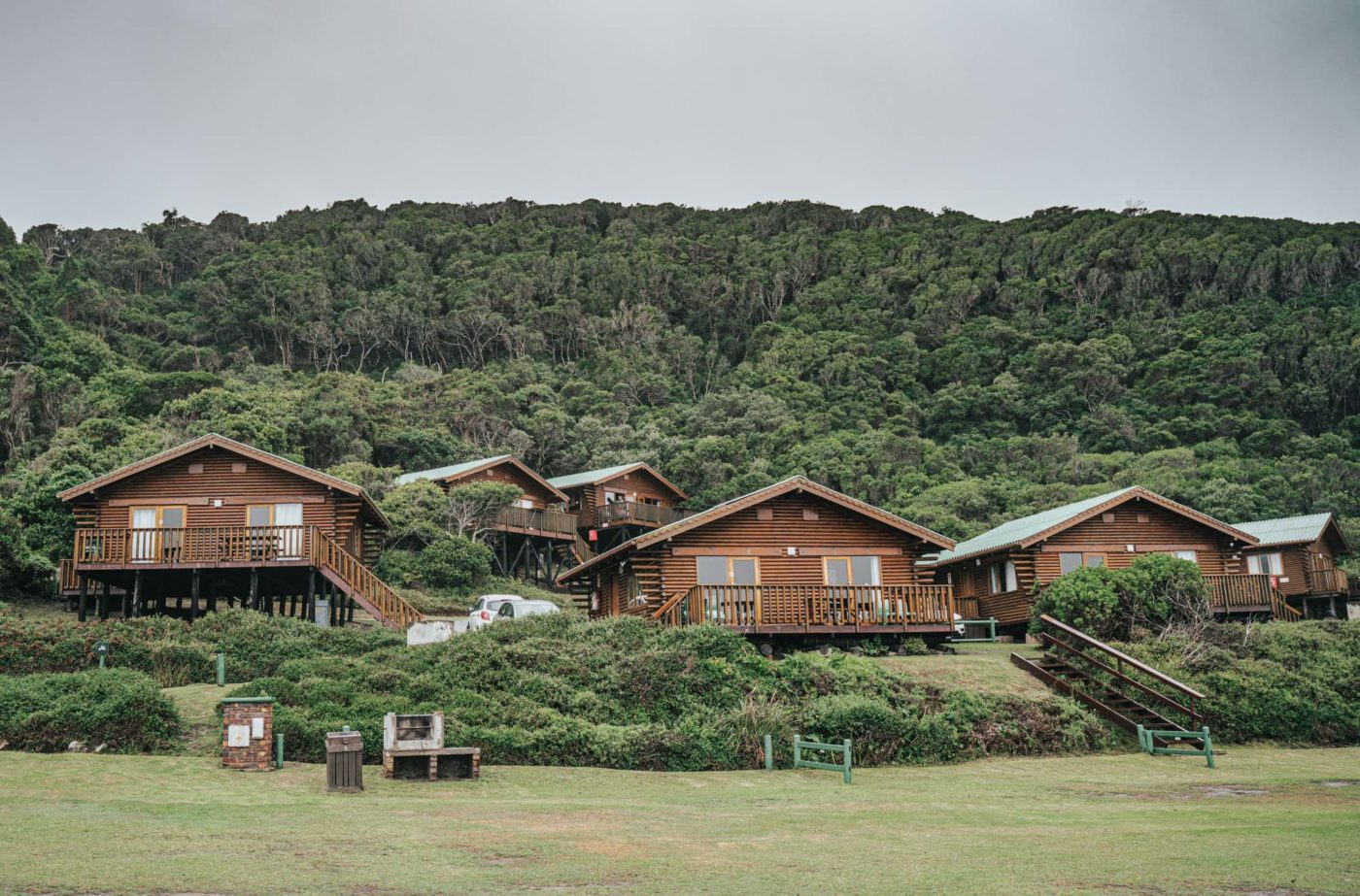 Cabins on the beach in Tsitsikamma National Park
