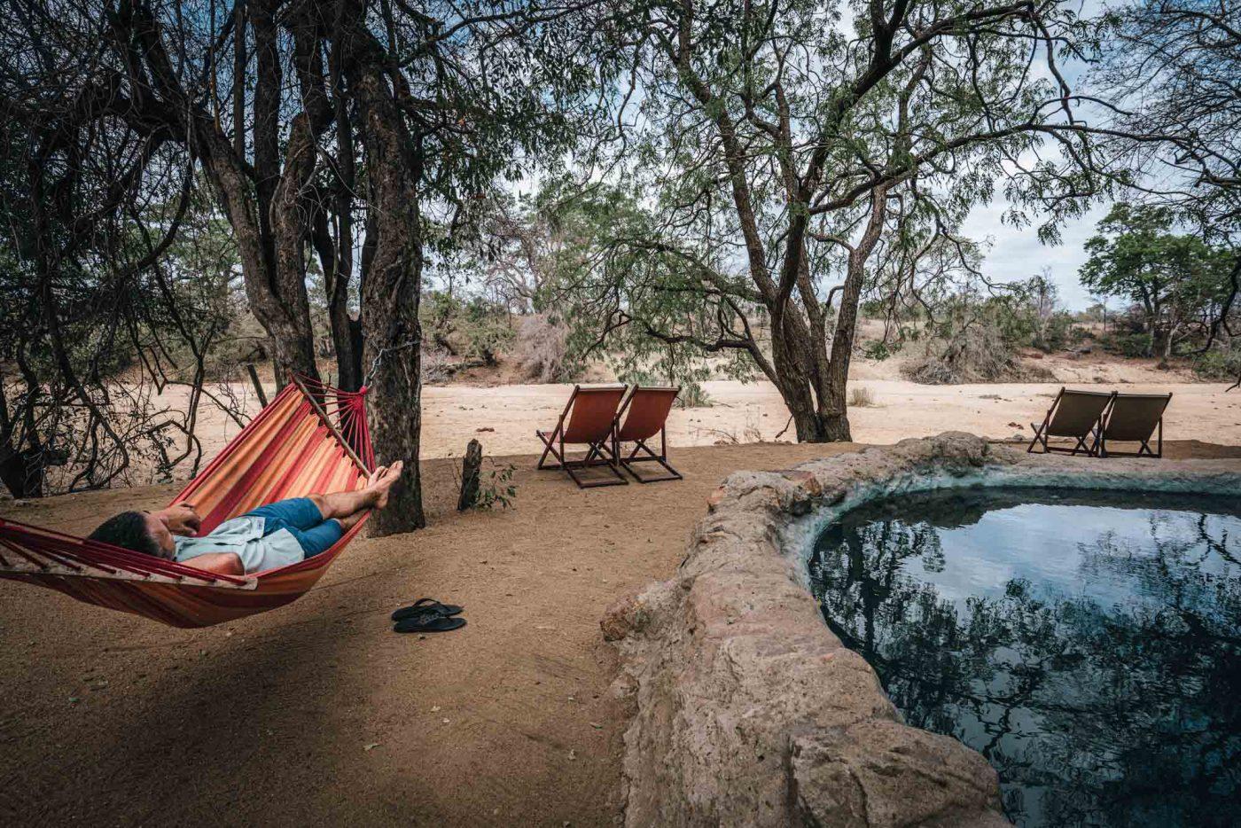 Pool hangs at Umlani Bushcamp, Timbavati Nature Reserve