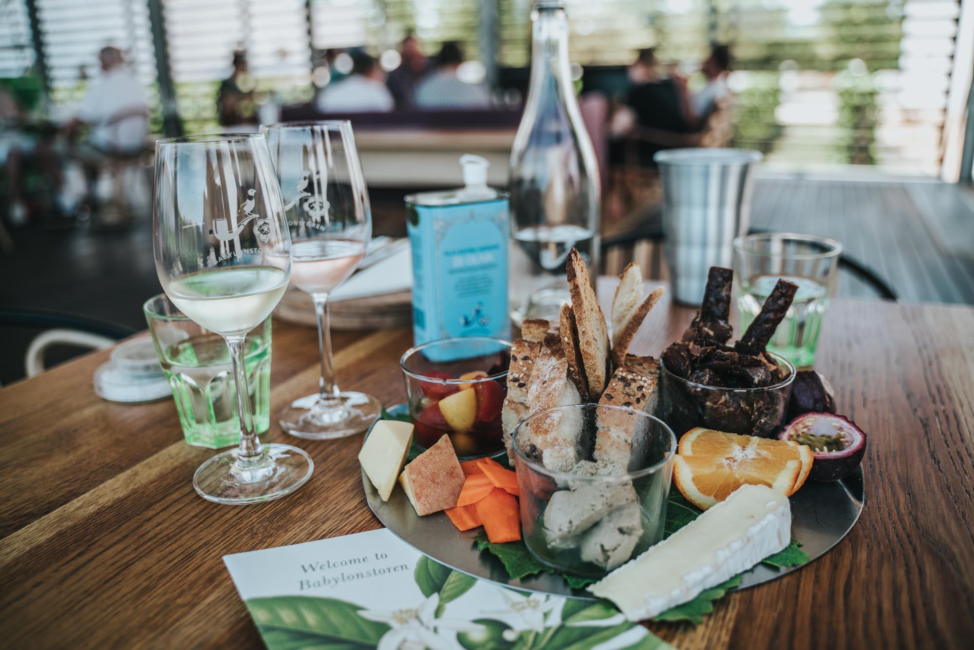 Delicious platter at Babylonstoren in Stellenbosch