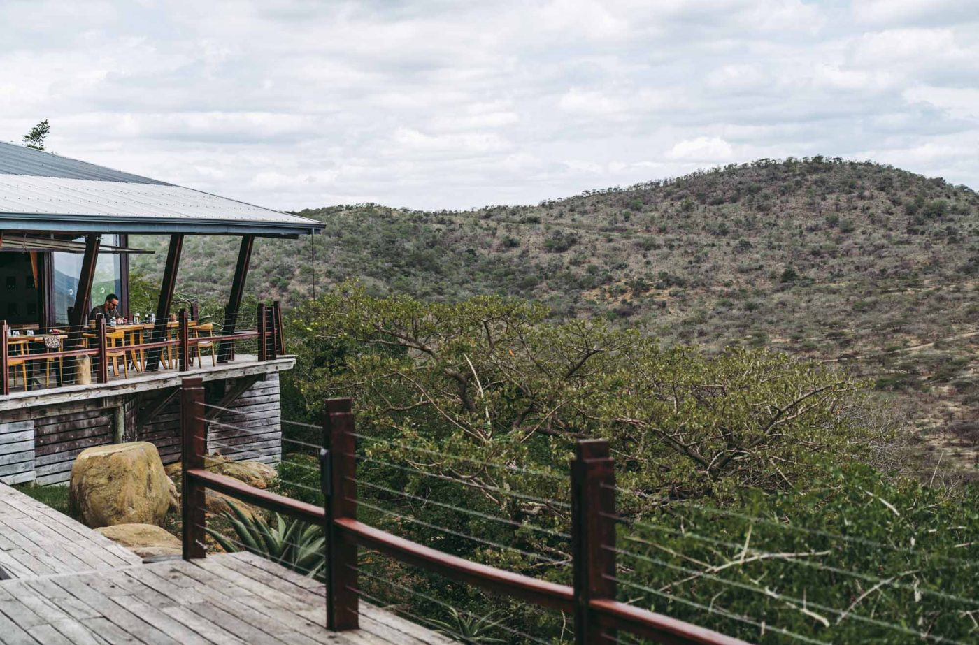 The deck at Rhino Ridge Safari Lodge in Hluhluwe iMfolozi National Park