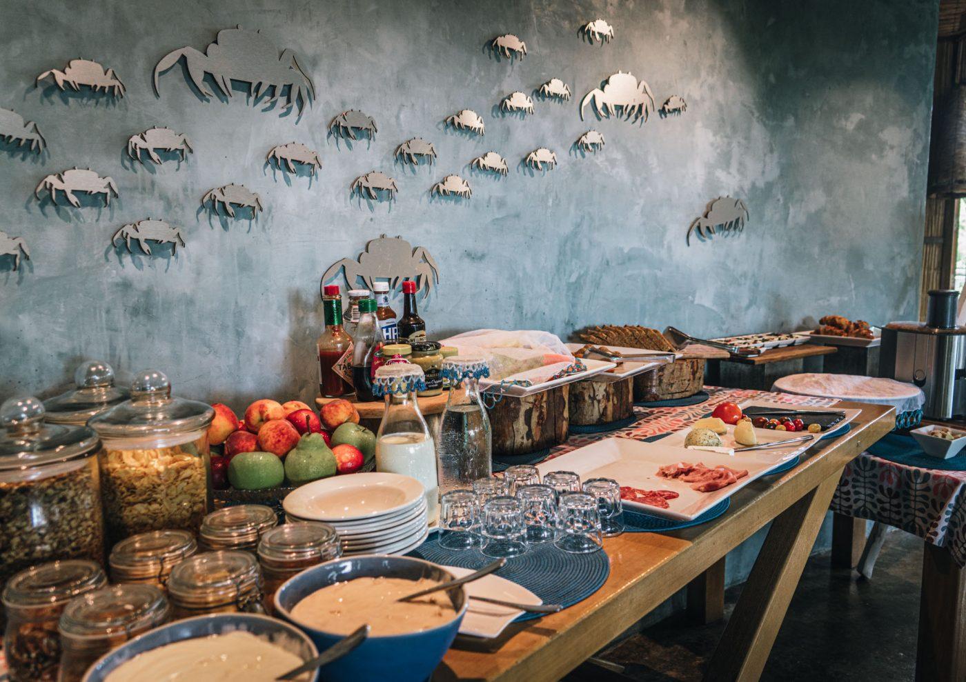 Breakfast spread at Thonga Beach Lodge