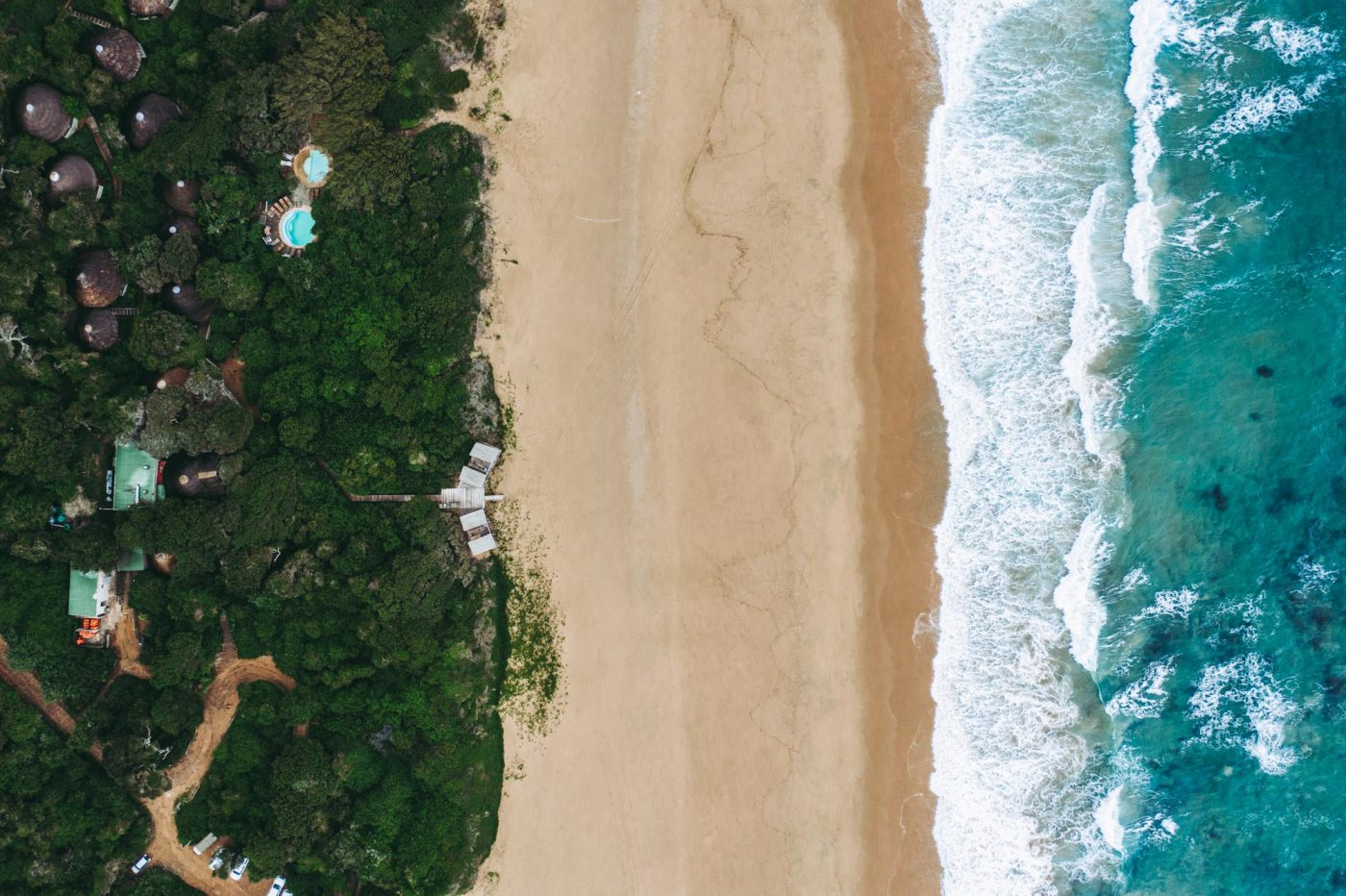 Thonga Beach Lodge from above