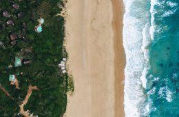 Thonga Beach Lodge from above
