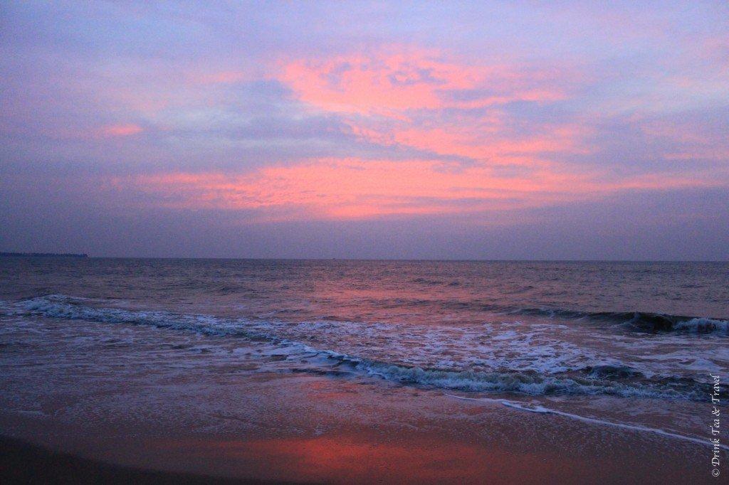 Sunset on the beach in Sri Lanka