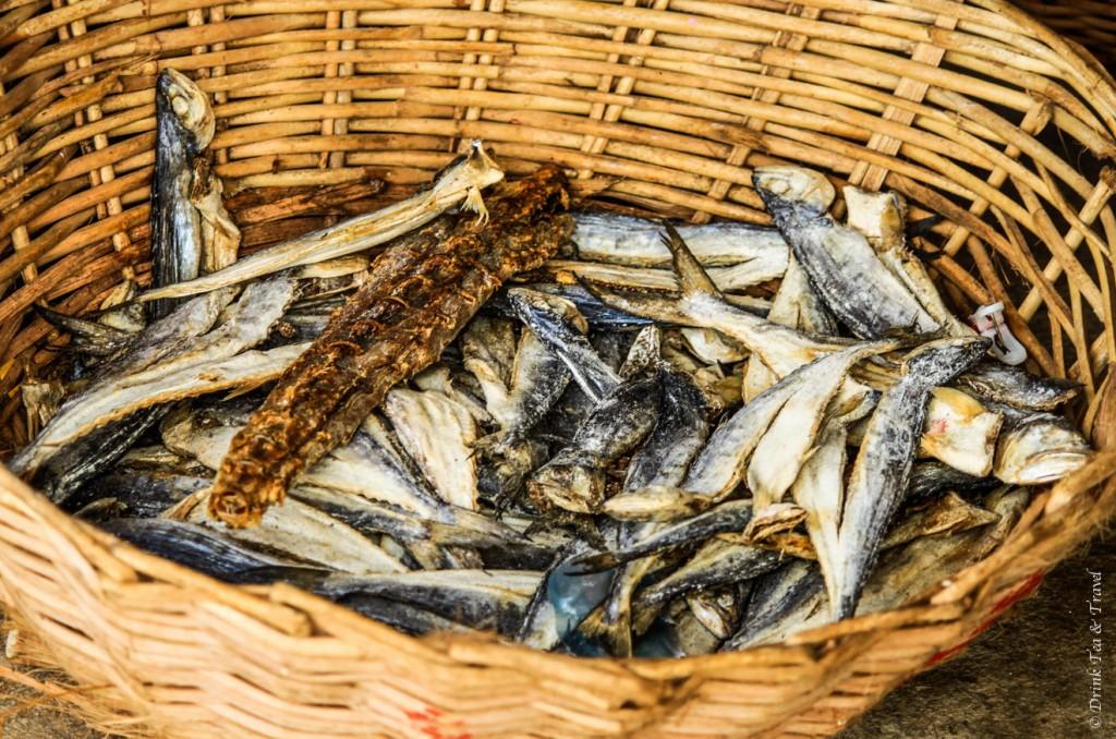 Dried fish for sale in Negombo Fish Market, Sri Lanka