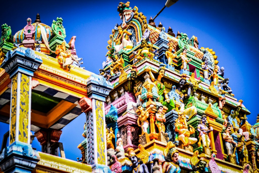 One of many Hindu temples in Sri Lanka. Their colourful façades are fascinating and incredibly complex.