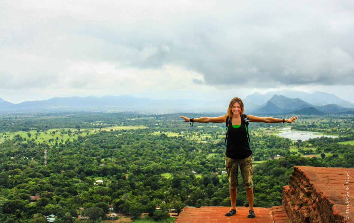 At the top of Sigiriya Rock in Sri Lanka, December 2013