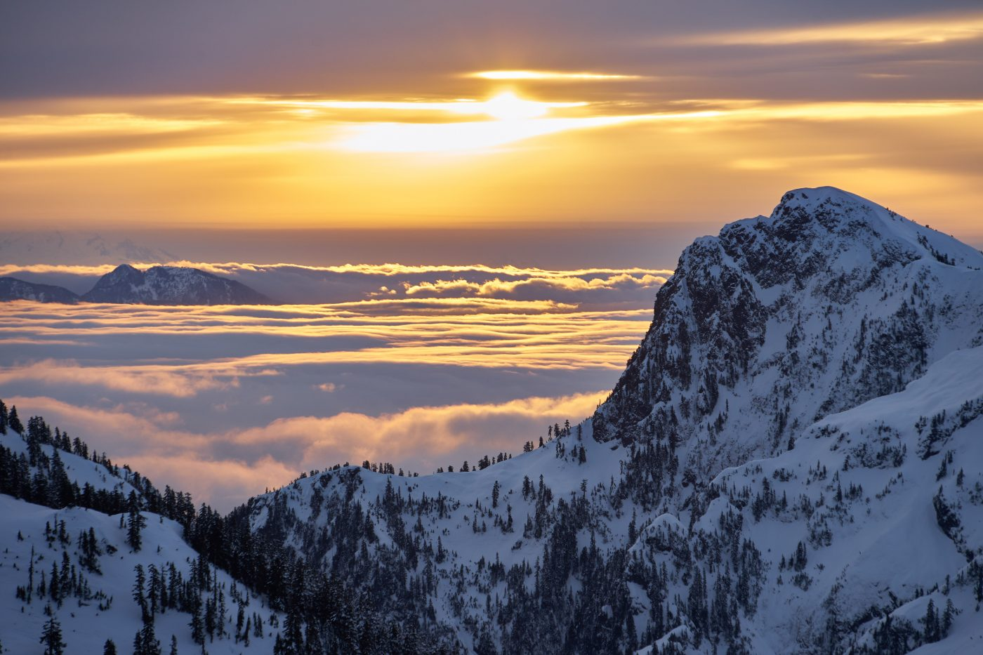 places to watch the sunset: Sunrise From Mt Steele, BC