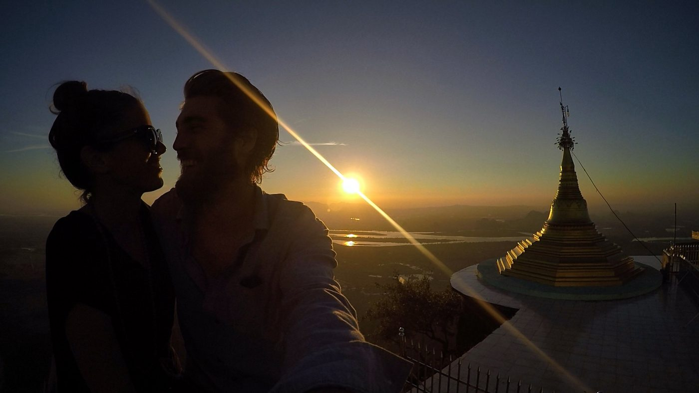 places to watch the sunset: Sunset From Mt Zwegabin