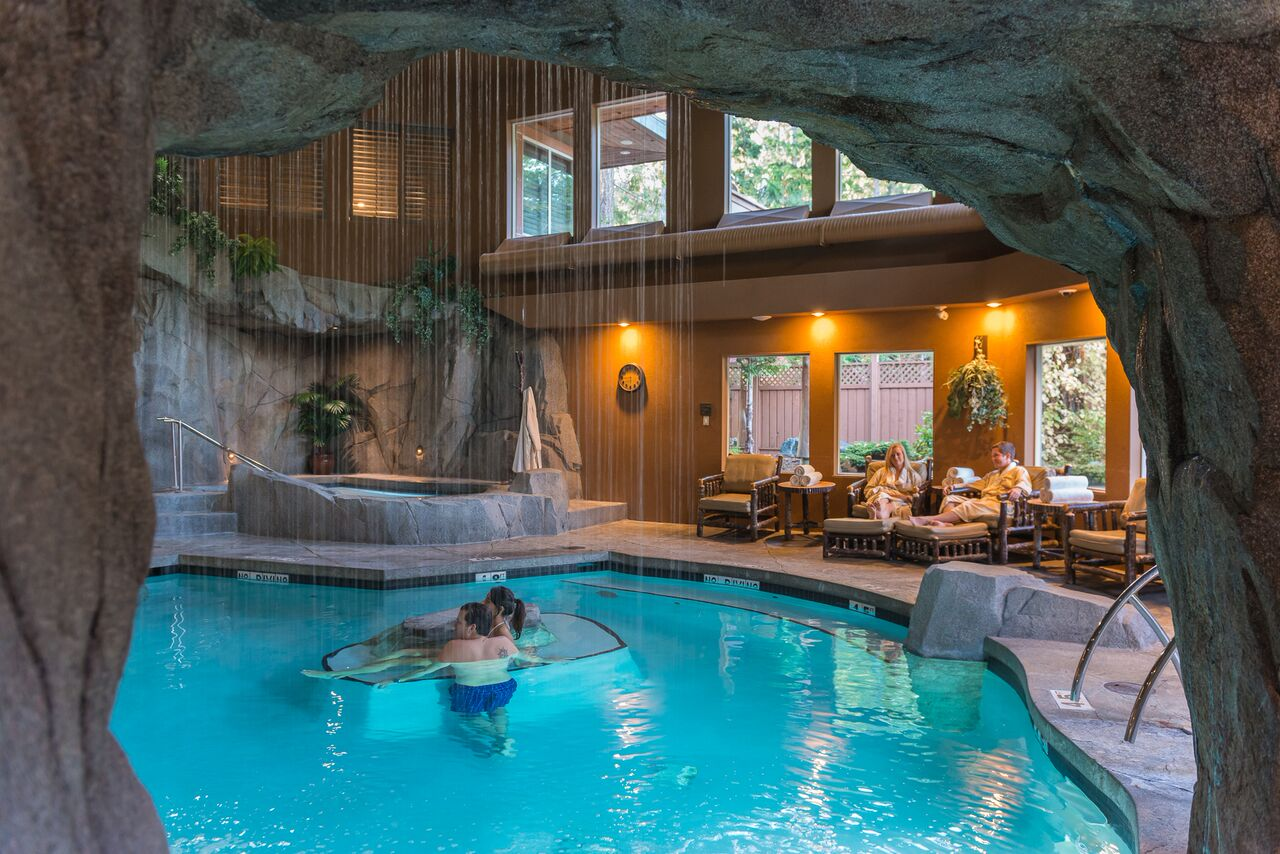 luxury resorts in british columbia: Tigh-na-Mara grotto spa