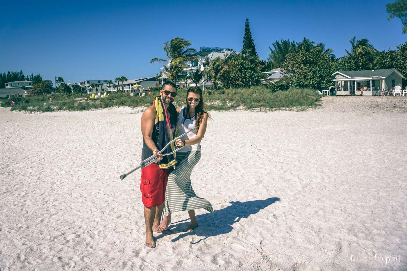 Max & Oksana on anna Maria Island Beach in Florida, USA