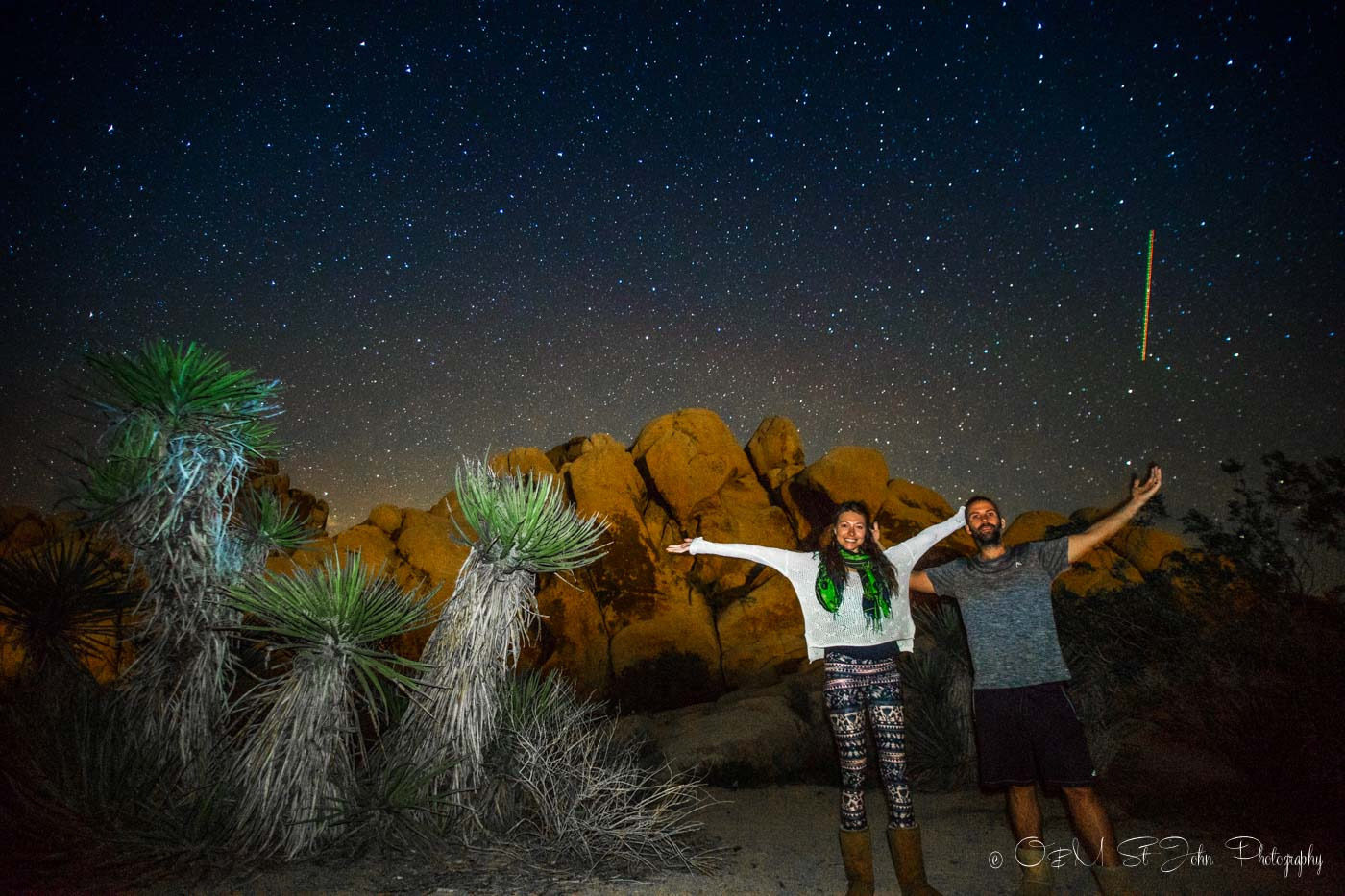 Under the stars in Joshua Tree National Park, California. Road Trip USA