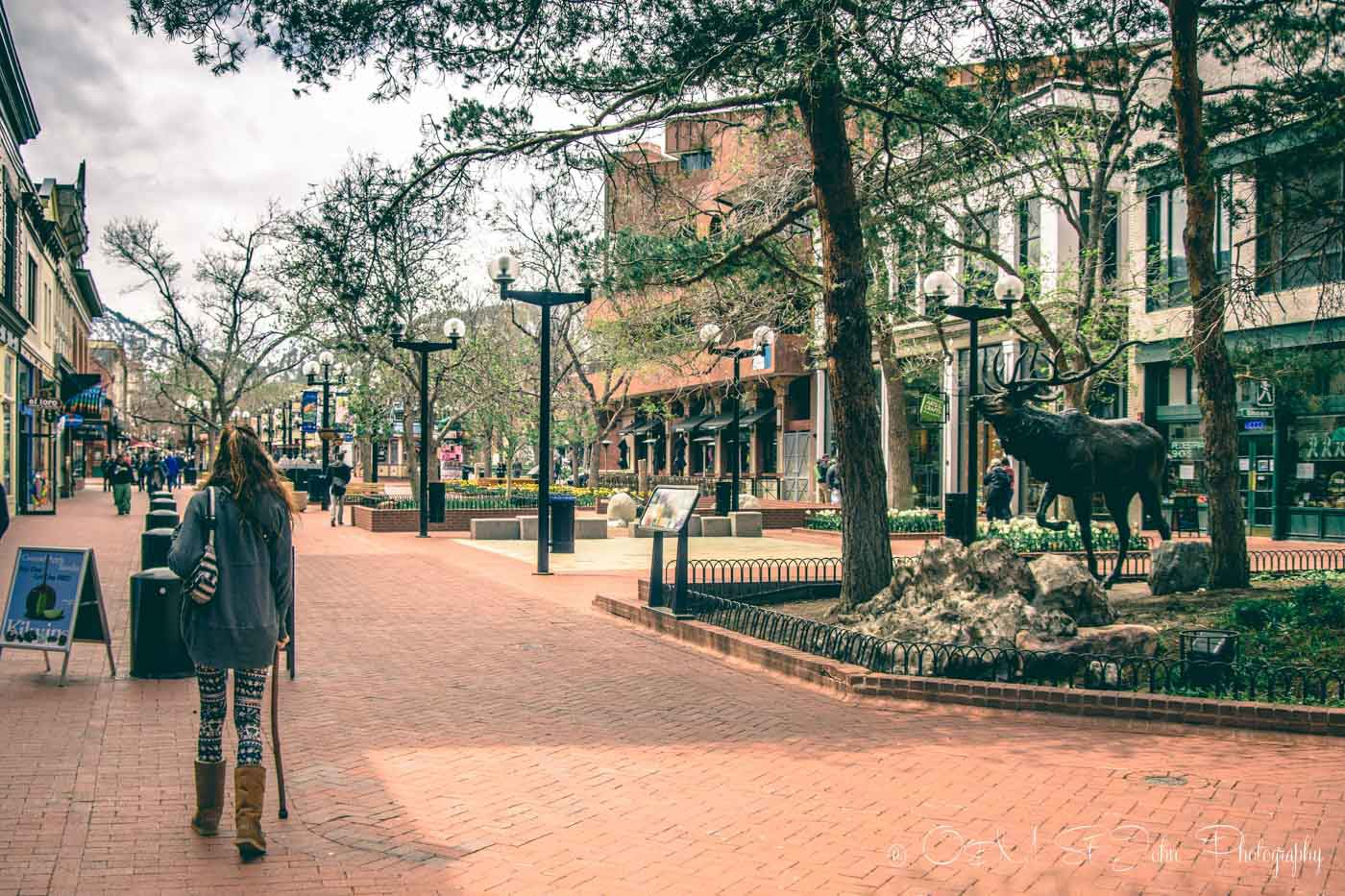 Travel across america by car stop: Pearl Street Mall in Boulder, Colorado
