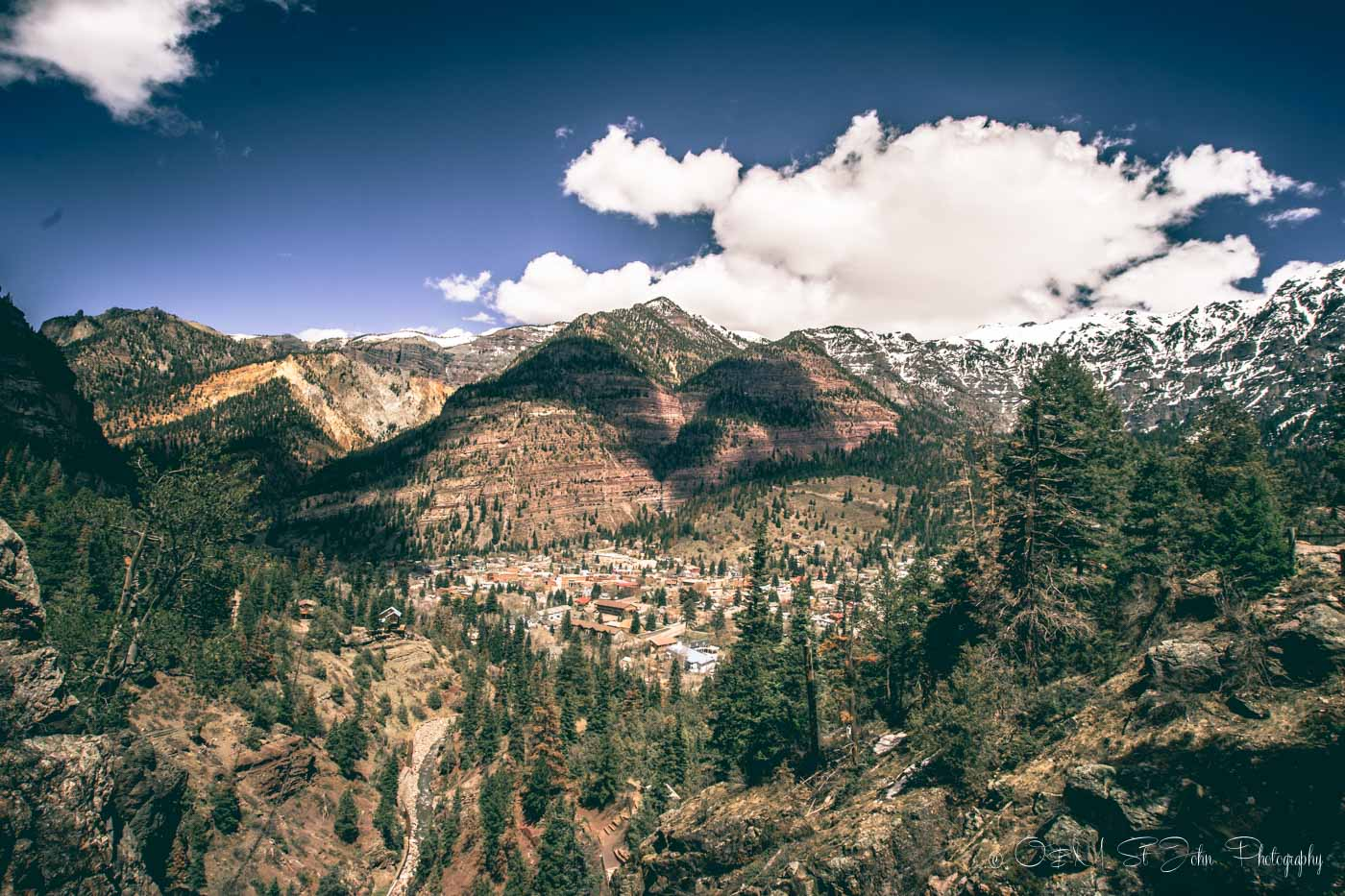 Colorado road trip: Ouray, view from above. Colorado. USA