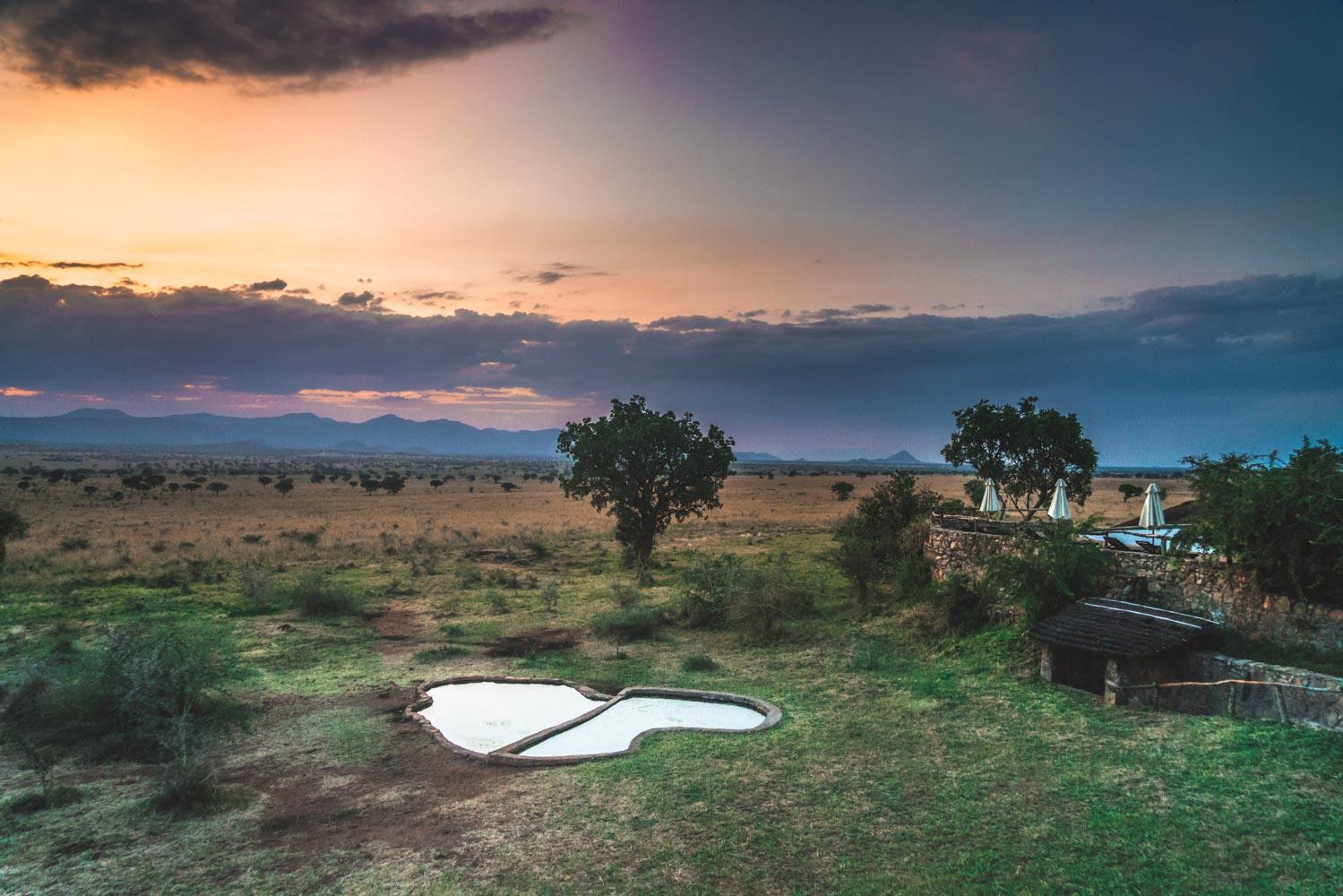 Watering hole at Apoka Safari Lodge in the Kidepo National Park