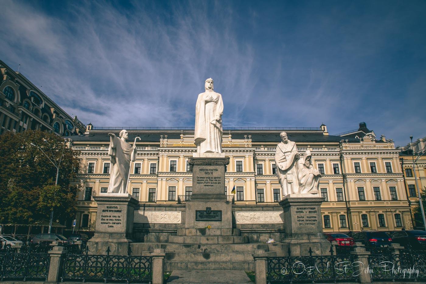 Queen Olga Monument, Kiev. Ukraine