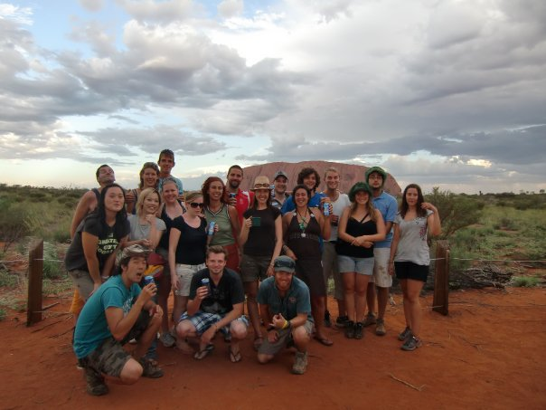 Max and The Rock Tour group at Uluru. 2010. Australia