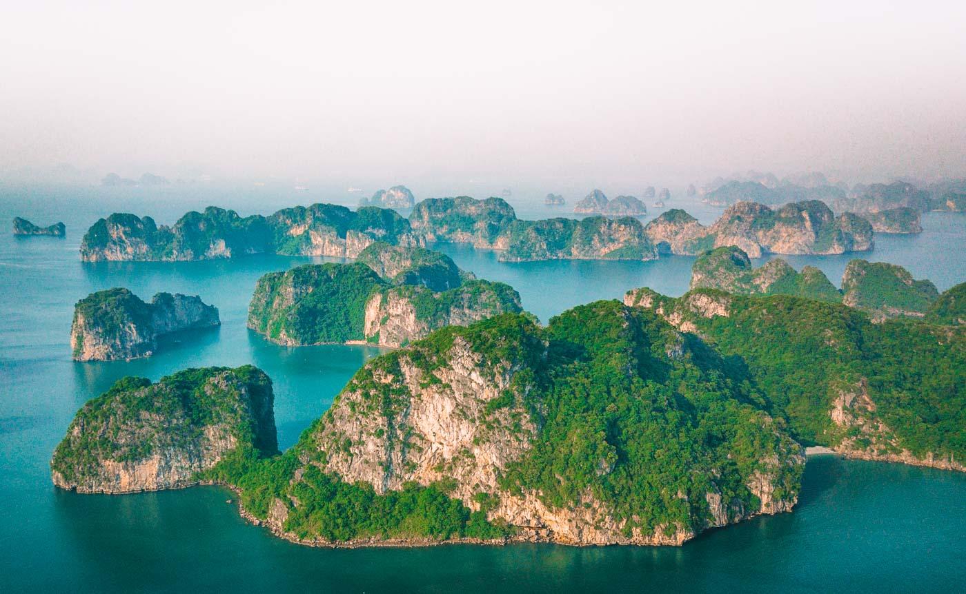 Magical setting of Halong Bay, Vietnam