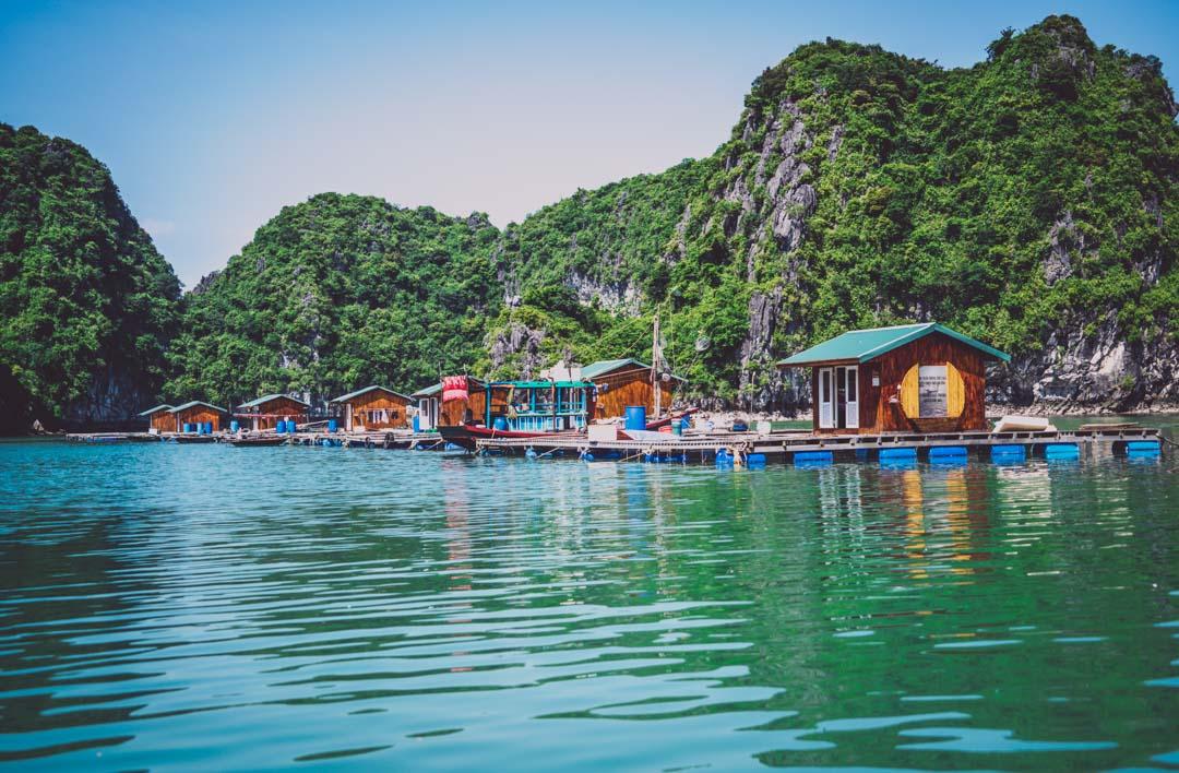Halong Bay Cruise: Floating fishing village in Bai Tu Long Bay