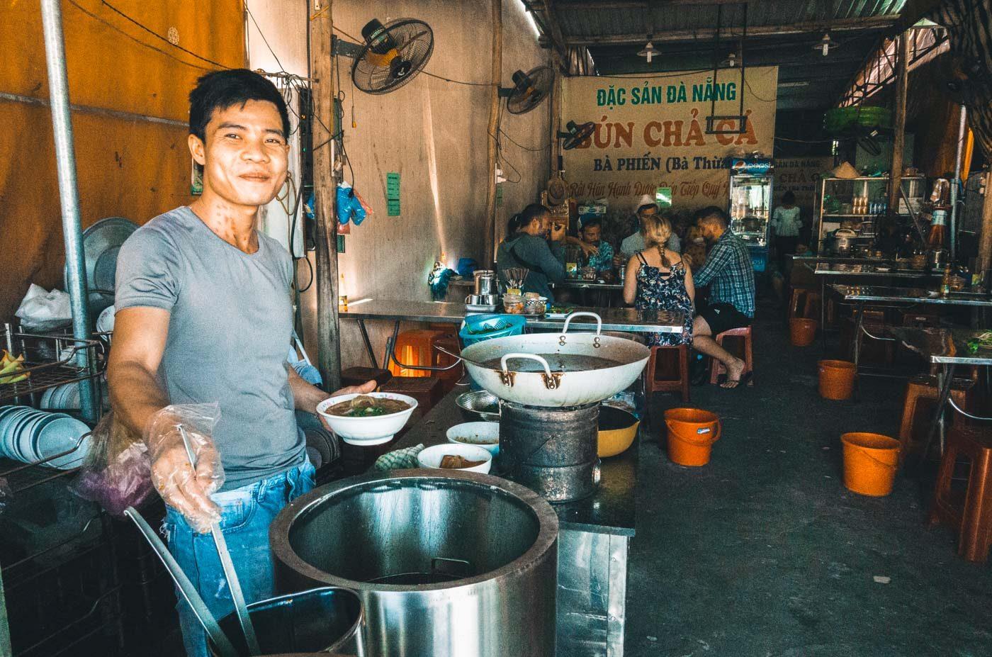 Small locally run restaurant in Hoi An, Vietnam