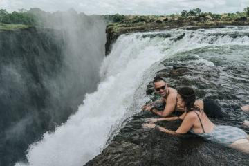 Visiting Devil's Pool Victoria Falls