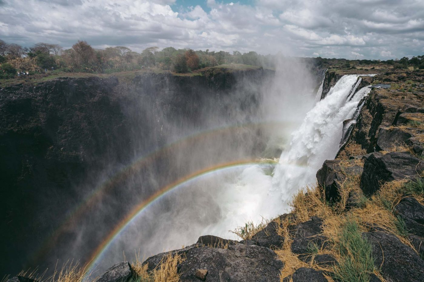View of Victoria Falls from the Zambian side