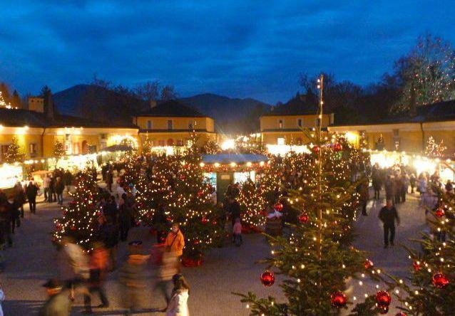 Christmas Market at Hellbrunn Palace, Salzburg, Austria