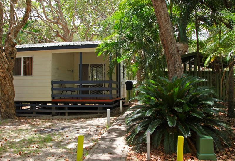 Camping on Fraser Island: Cabin at Cathedrals on Fraser. Photo by Cathedrals on Fraser