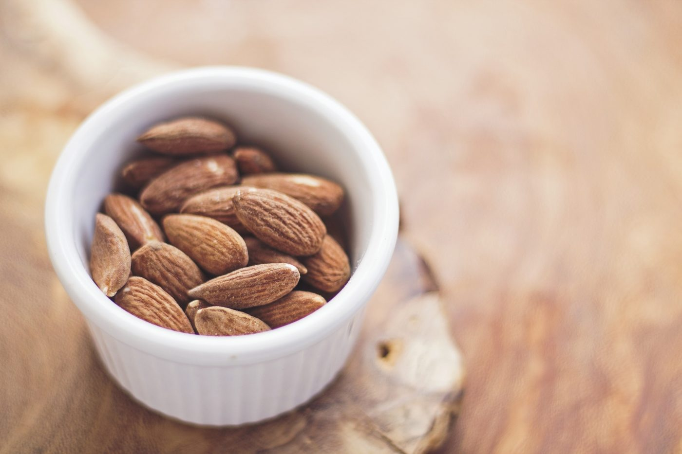A handful of almonds make for a great healthy snack!