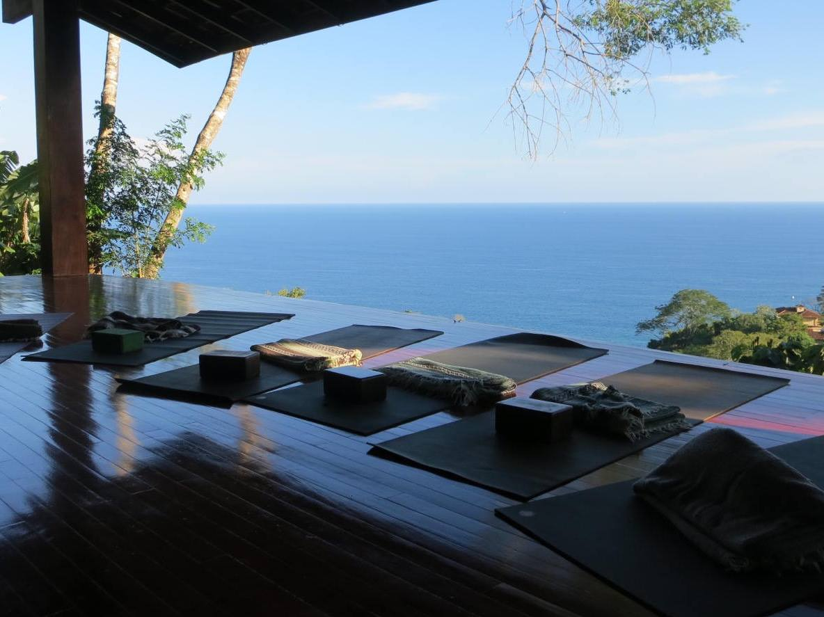 Yoga Retreats in Costa Rica: Yoga practicing area at Anamaya Resort