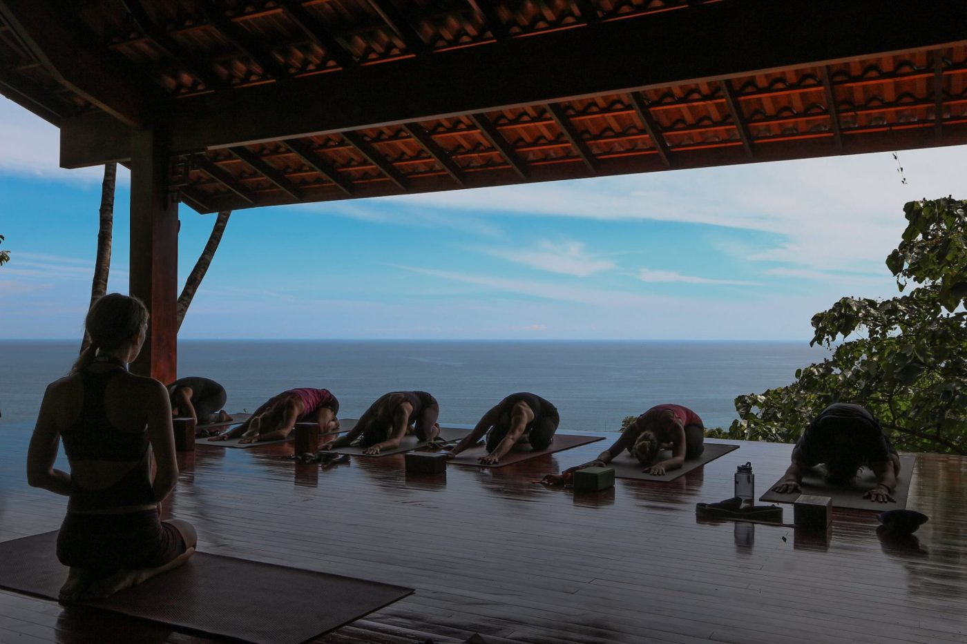 Yoga Retreats in Costa Rica: people practicing yoga at Anamaya Resort