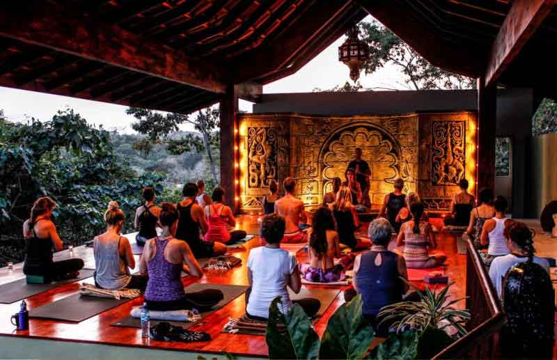 Yoga Retreats in Costa Rica: People practicing yoga at Anamaya Retreat
