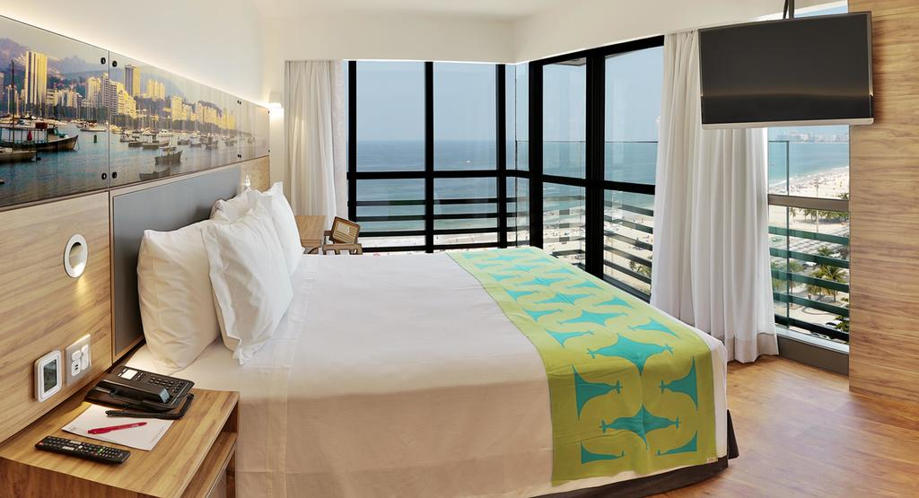 Hike to Christ the Redeemer: Sea-facing room at the Arena Leme Hotel in Rio. Photo by Arena Leme Hotel.