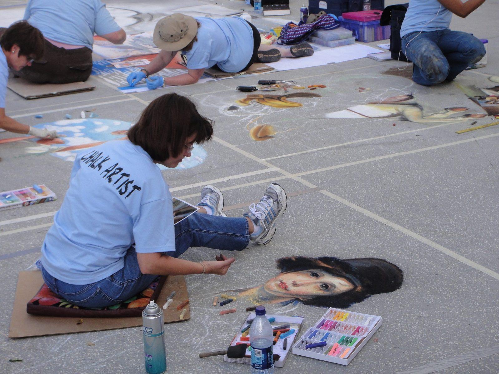 What to do in Orlando: Sidewalk chalk artists in Orlando