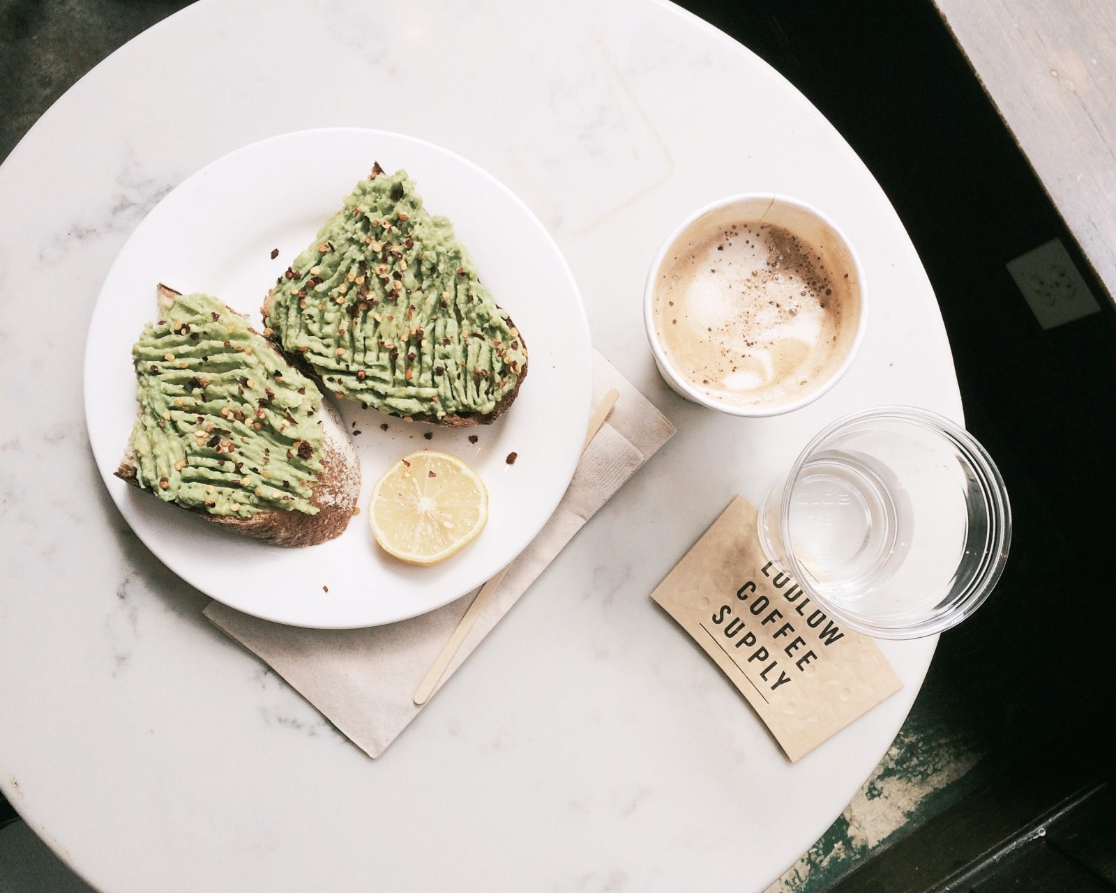 Food to try in Australia: Avocado toast, just missing the poached egg!