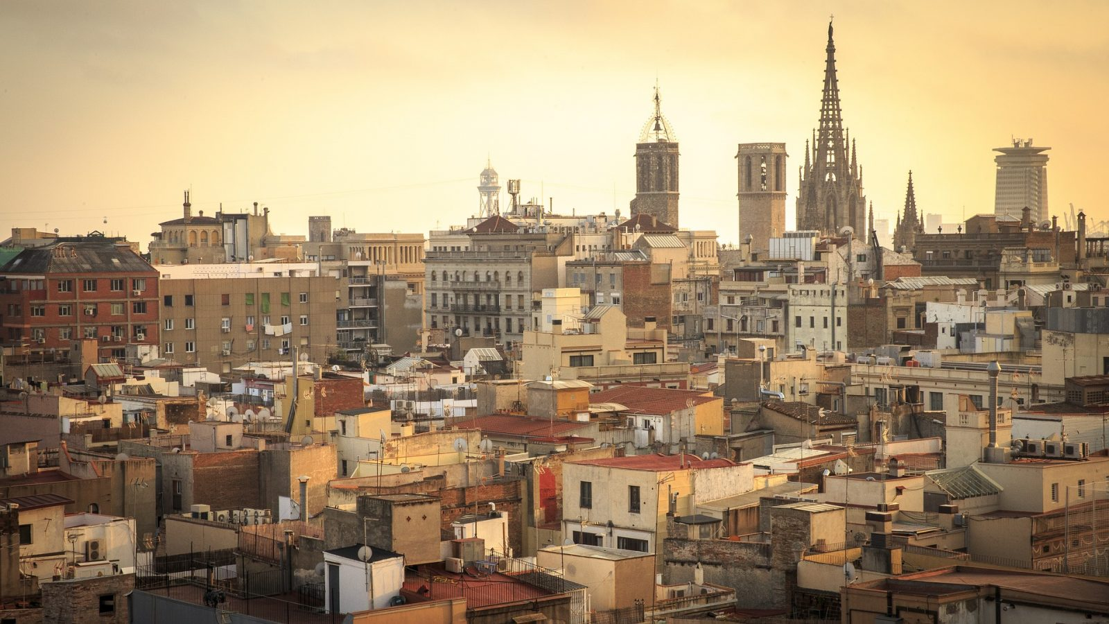Europe Itinerary: Barcelona Skyline at Sunset