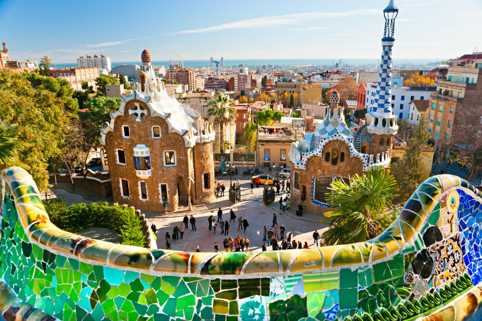 Park Guell in Barcelona, Spain. Photo by urbantimes.co