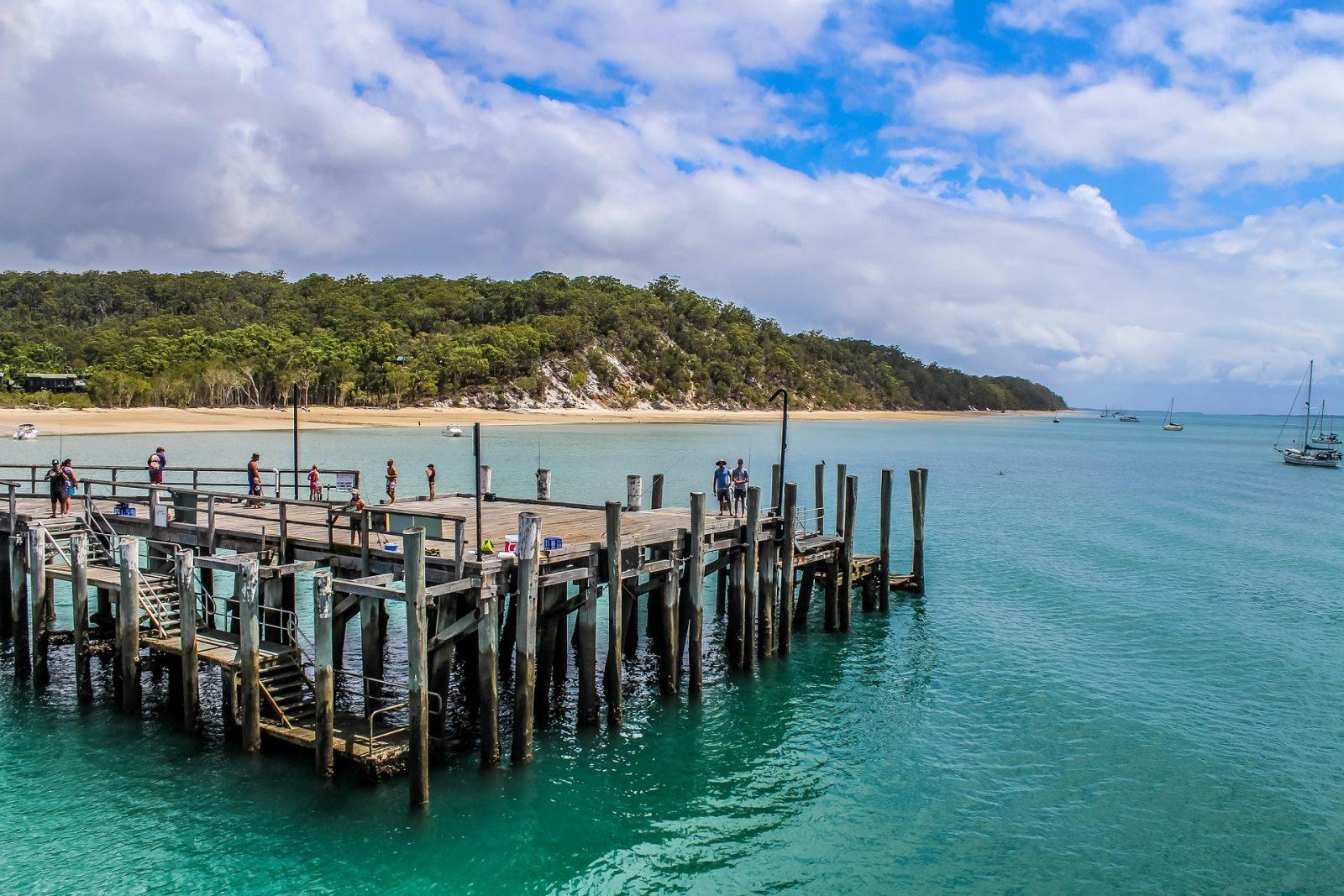 Camping on Fraser Island: Fraser Island dock