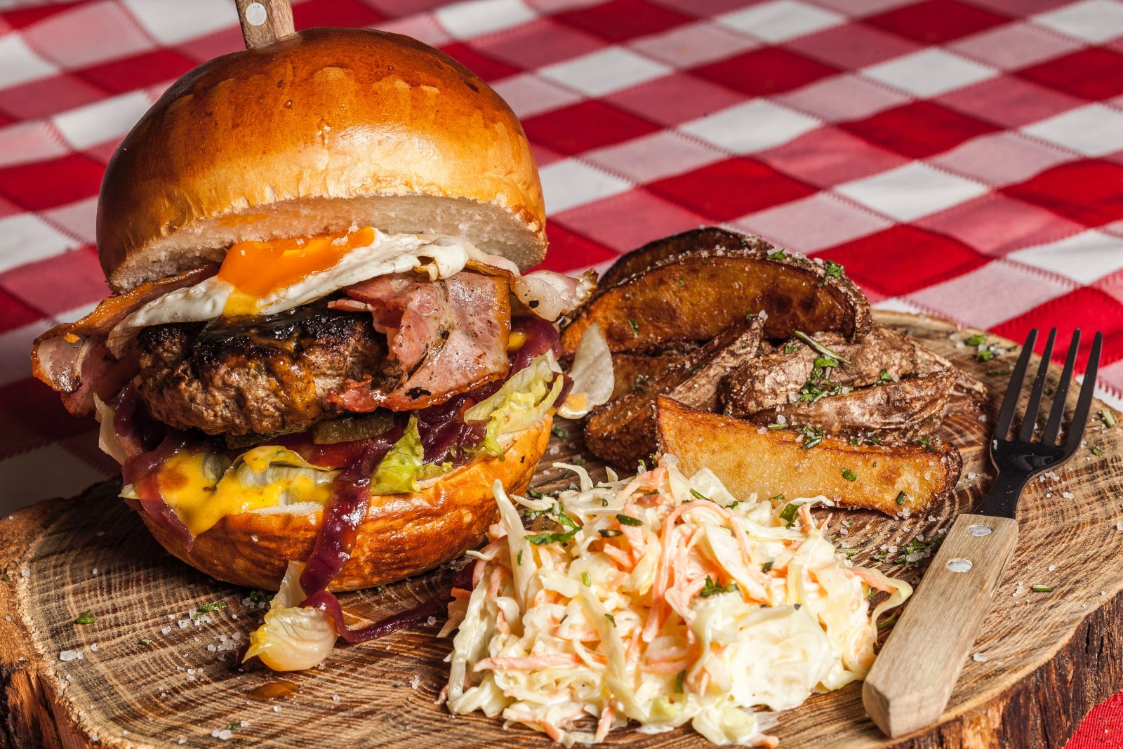 Food to try in Australia: Aussie burgers tend to be messy but oh so good