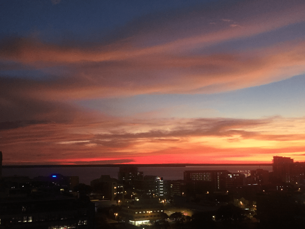What to do in Darwin: sunset of Darwin