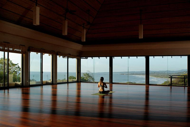 Yoga Retreats in Costa Rica: Person meditating at Blue Spirit Retreat