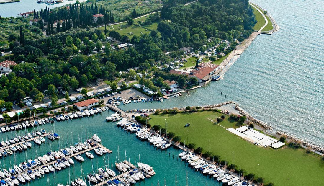 Aerial view of Camp Lucija in Piran Slovenia